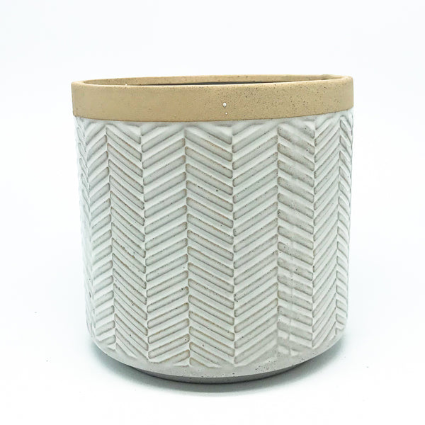 Ramos Banded Chevron Pot