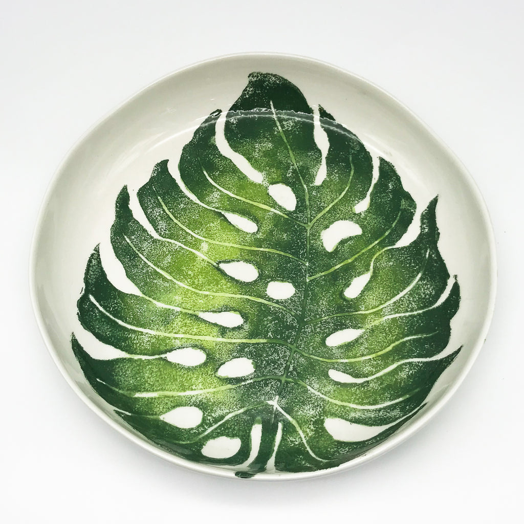 Shallow Monstera Bowl