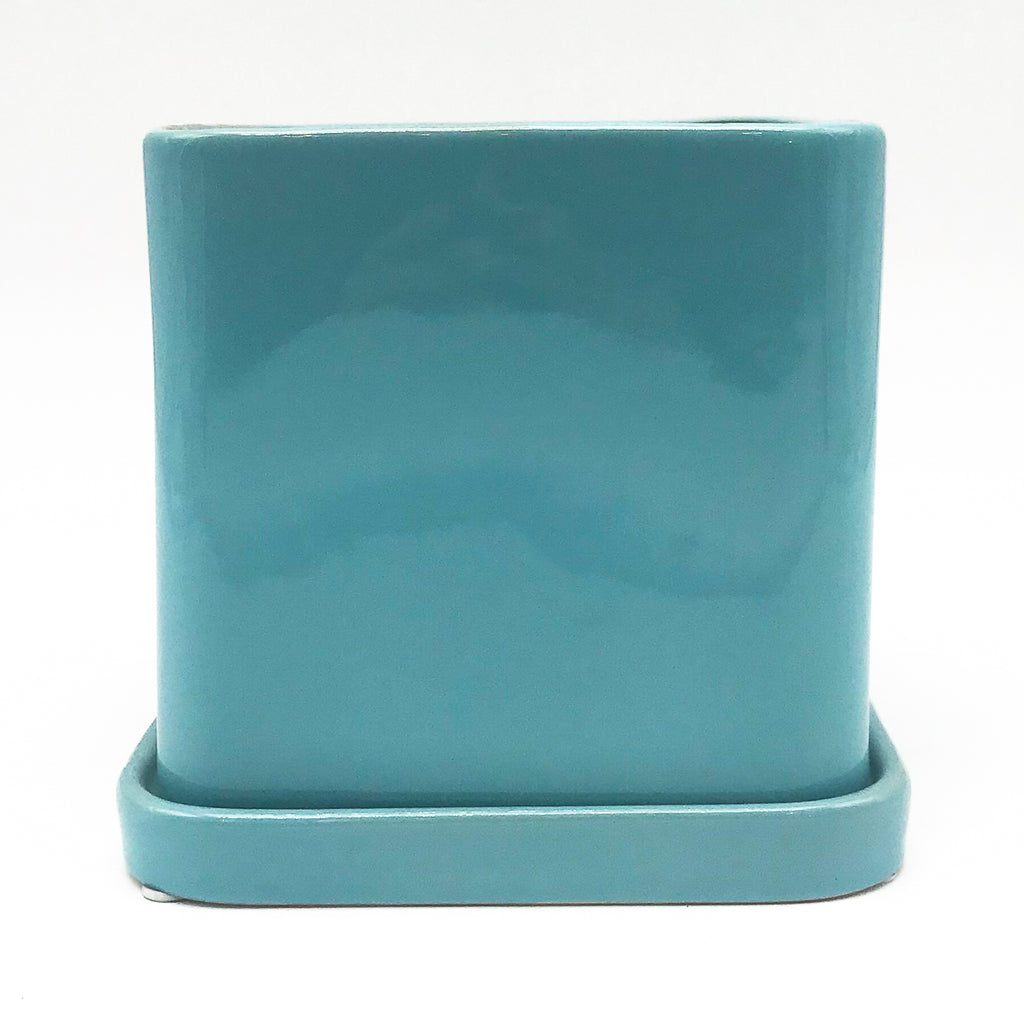 Blue Svek Cube with Saucer