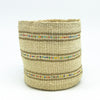 Swahili Beaded Basket - Natural S