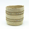 Swahili Beaded Basket - Natural XS