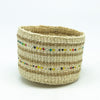 Swahili Beaded Basket - Natural XXS