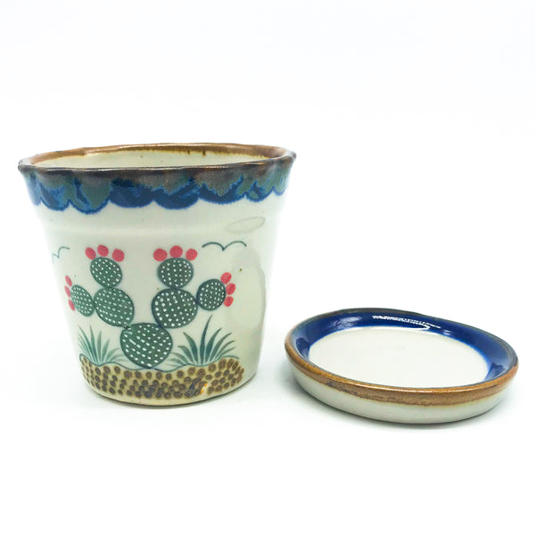 Nopal Planter with Saucer