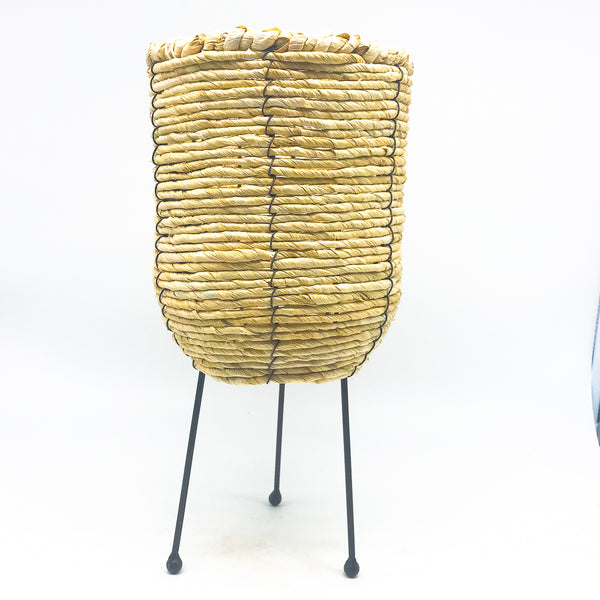 Woven Container with Metal Legs