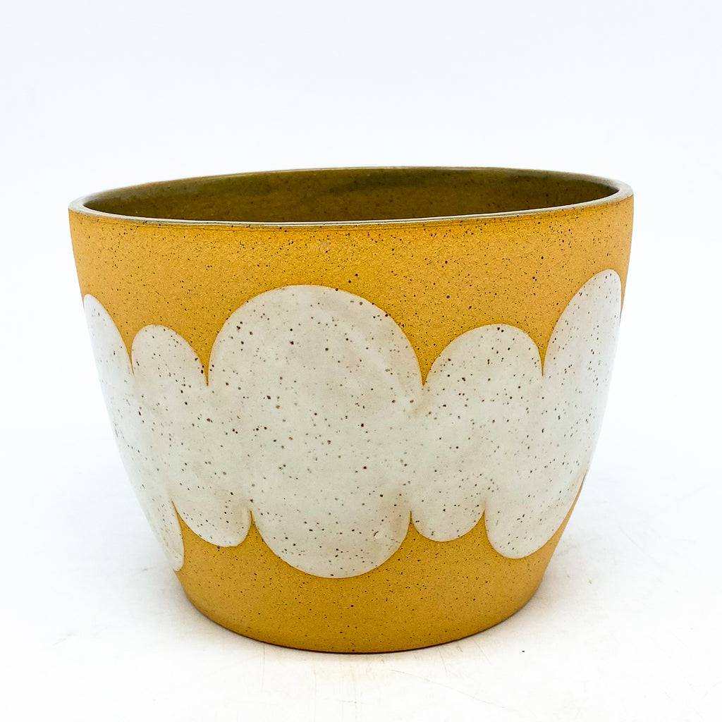 Mineral White Cloud Planter
