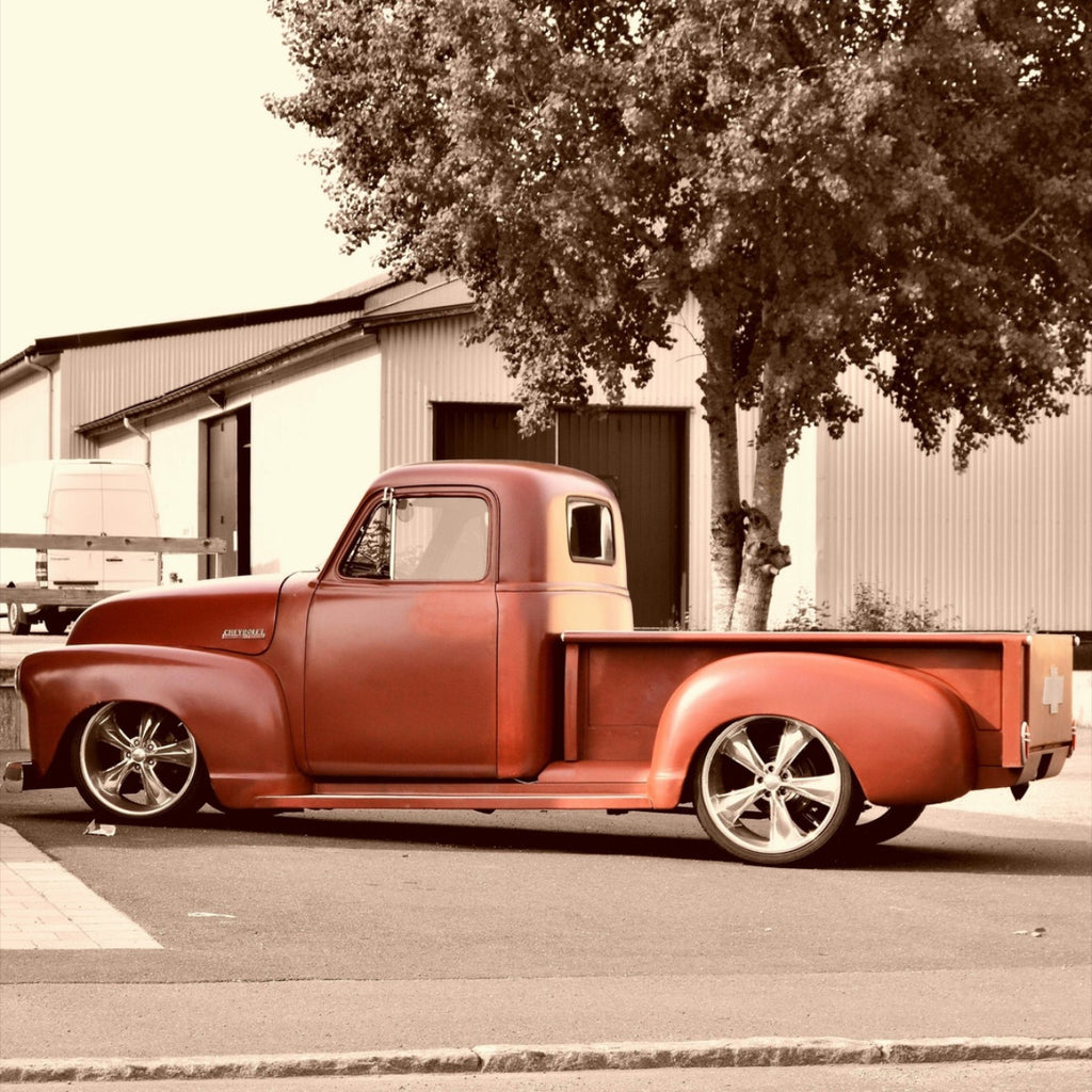 Old Red Pick up truck.