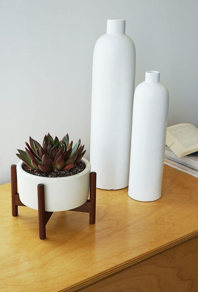 Modernica white case study desk-top planter in white.