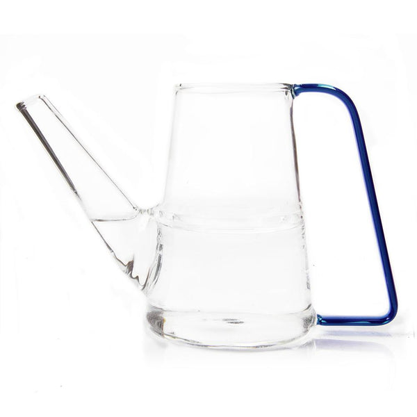 Sprocket Glass Watering Can in blue