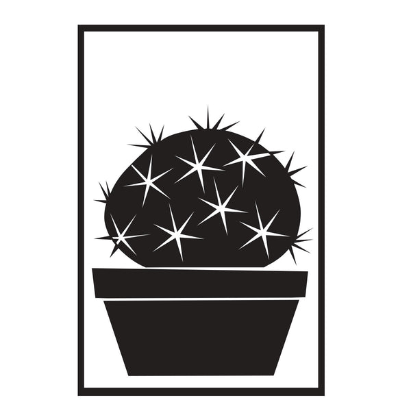 Succulent Decal Barrel Cactus