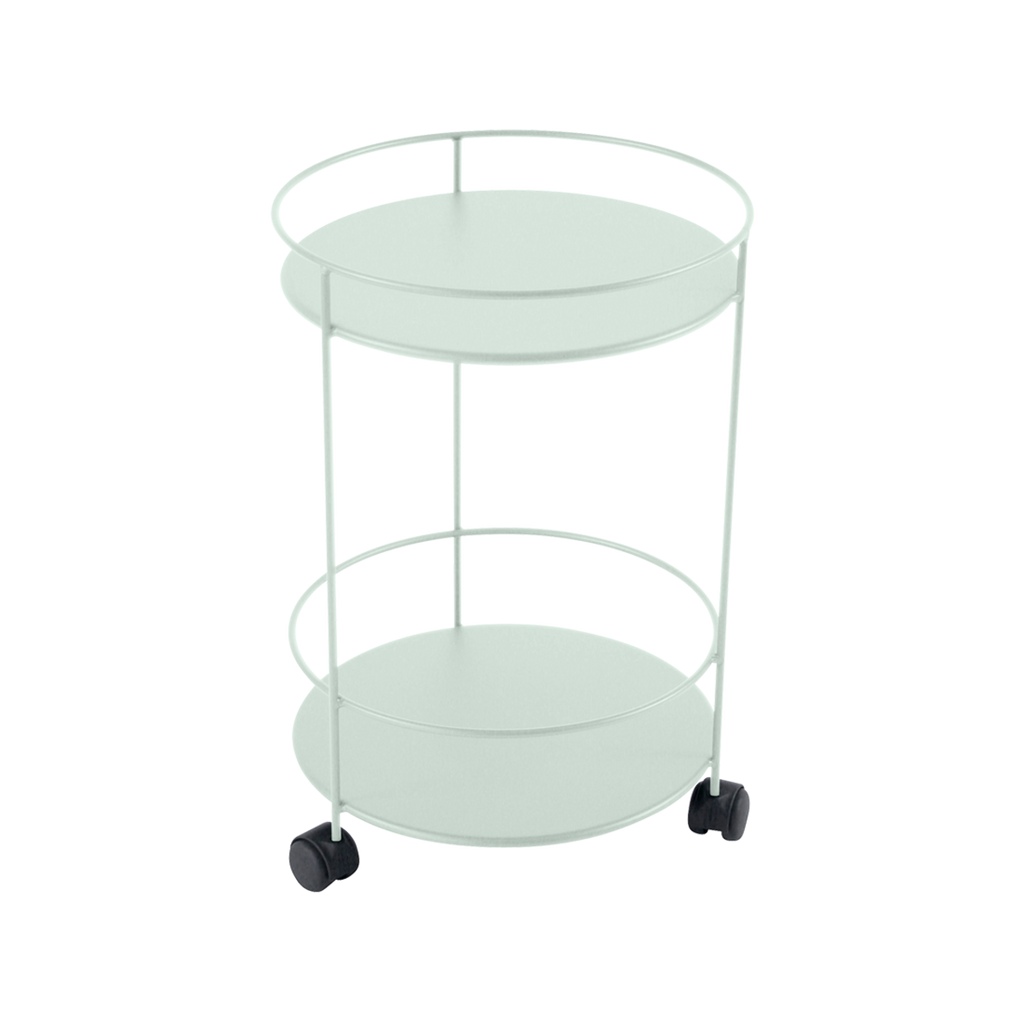 Fermob Guinguette Side Table with wheels ice mint