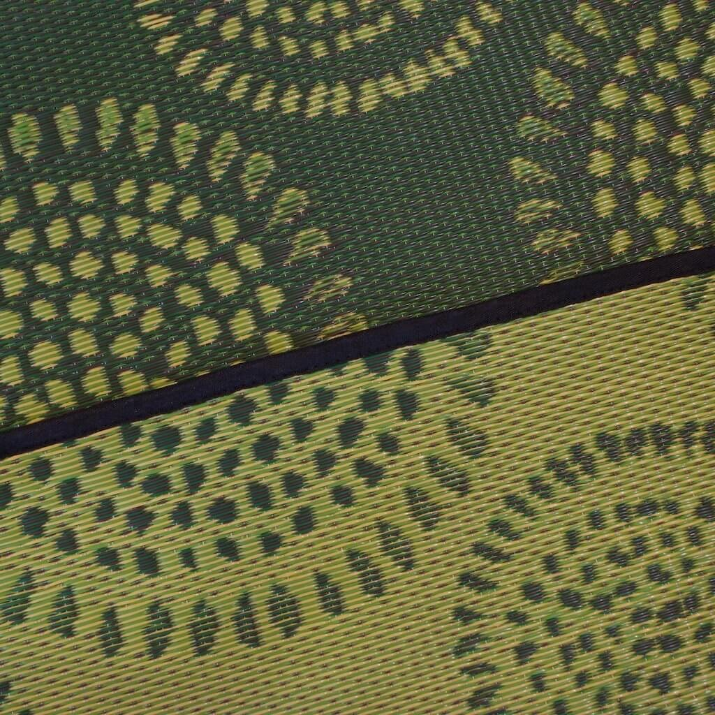 Green Molly Mad mat rug color sample.