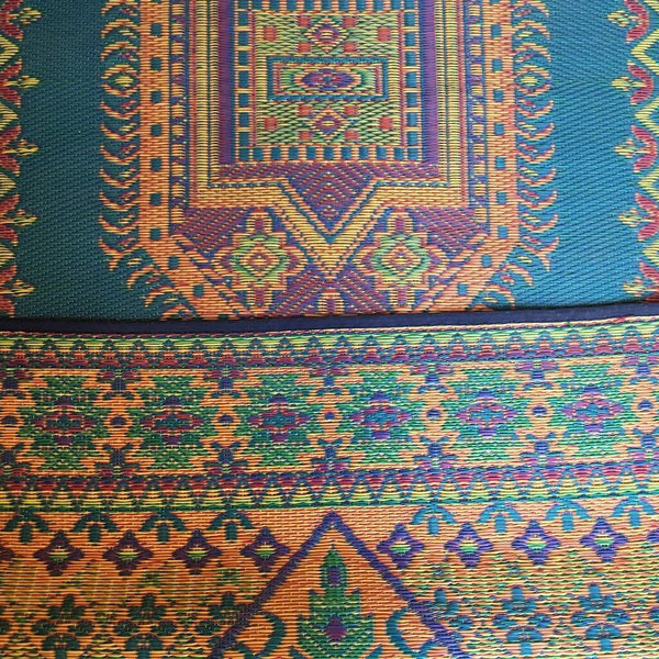 Mad mats oriental Turkish outdoor rug in aqua.