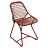 Fermob Sixties Collection dining chair in red ochre