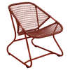 Fermob Sixties Collection low chair in red ochre