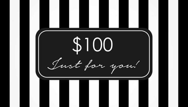 $100.00 Gift Card - Special Price $80.00