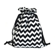 Scarf|Tote Bundle; Chevron Black