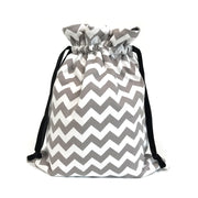 Scarf|Tote Bundle; Chevron Grey