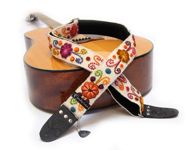 "Peruvian Cream 2"" Guitar Strap"