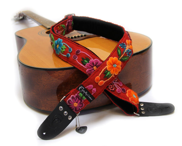 "Peruvian Red 2"" Guitar Straps"