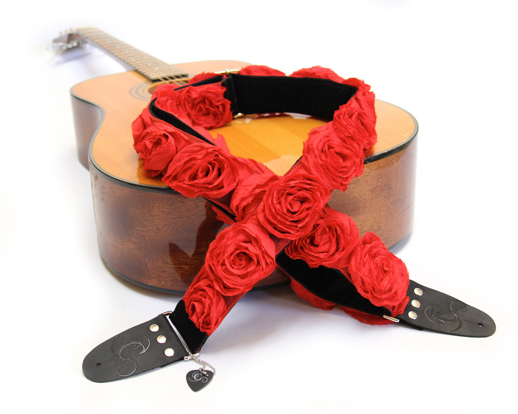 "Red Organza 2"" Guitar Strap"