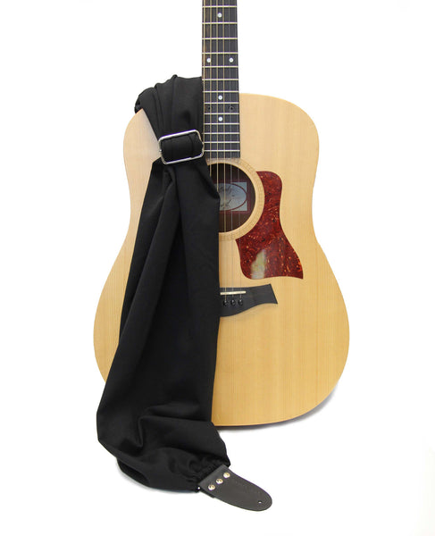 Black Scarf Guitar Strap