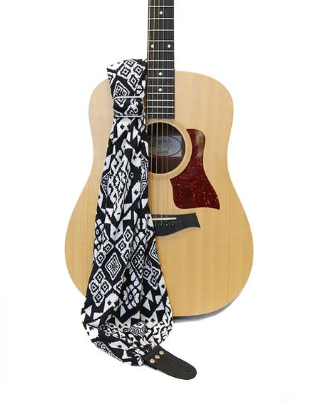 Midnight Ikat Scarf Guitar