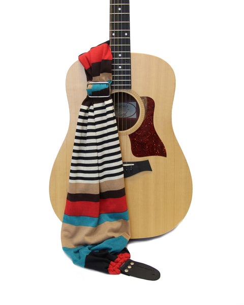Retro Stripe Guitar Strap