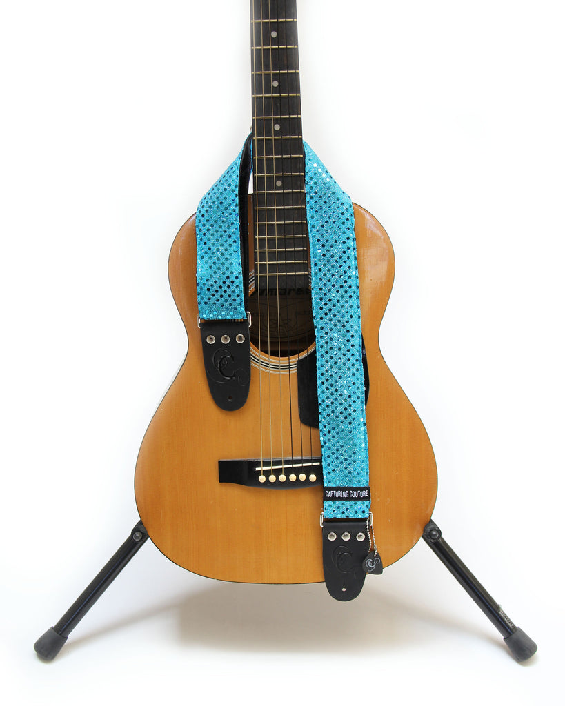 Sparkle Turquoise Kids Guitar Strap