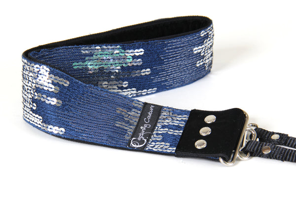 "Sequin Ombre Navy 2"" Camera Strap"