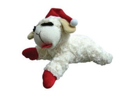 Christmas Lambchop Squeaky Toy