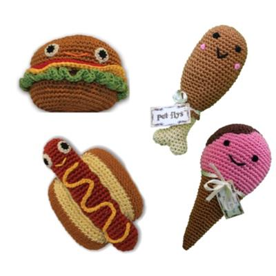 Small Crocheted Squeaky Toys