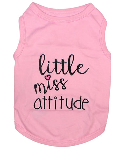 little miss attitude dog tshirt