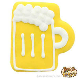 Beer shaped dog treat