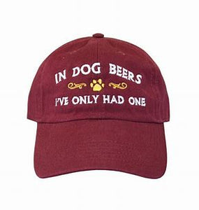 dog beers ball cap
