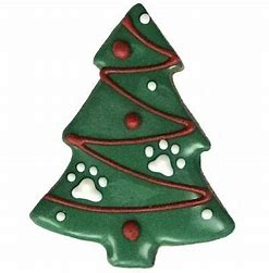 Christmas Tree Dog Cookie