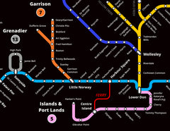 Creative Subway Map.Toronto Waterways Subway Map Spacing Store Toronto S City Gift Store