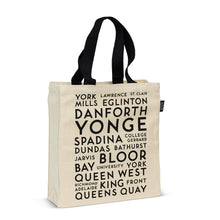 Load image into Gallery viewer, Toronto Street Names Tote Bag
