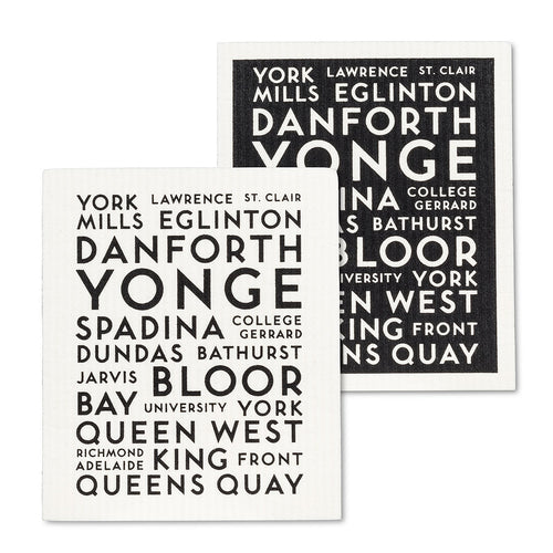 Toronto Street Names Swedish Dishcloths