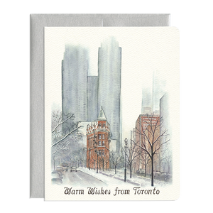 Warm Wishes from Toronto Greeting Card