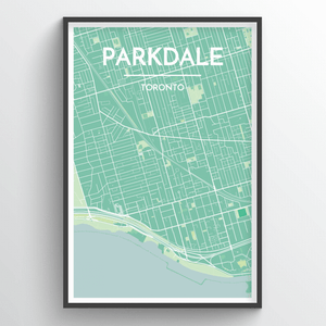Toronto Neighbourhood Map Prints