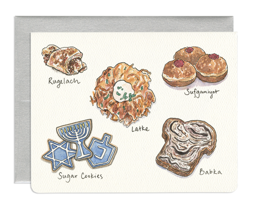 Hanukkah Treats Holiday Card