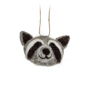 Raccoon Head Ornament