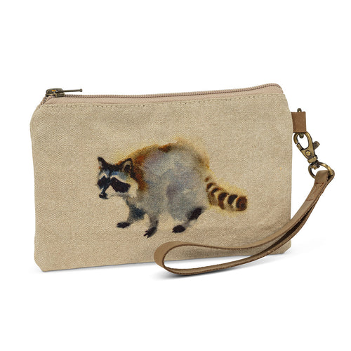 Raccoon Zip Pouch with Strap
