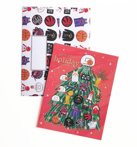 Raptors Christmas Tree Greeting Card