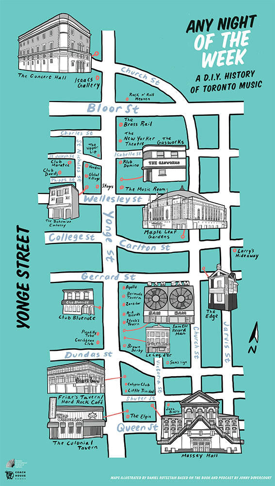 Any Night of the Week Map: Yonge Street