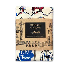 Load image into Gallery viewer, Toronto Cityscape Tea Towel