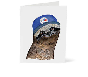 Toronto Blue Jays Sloth Card