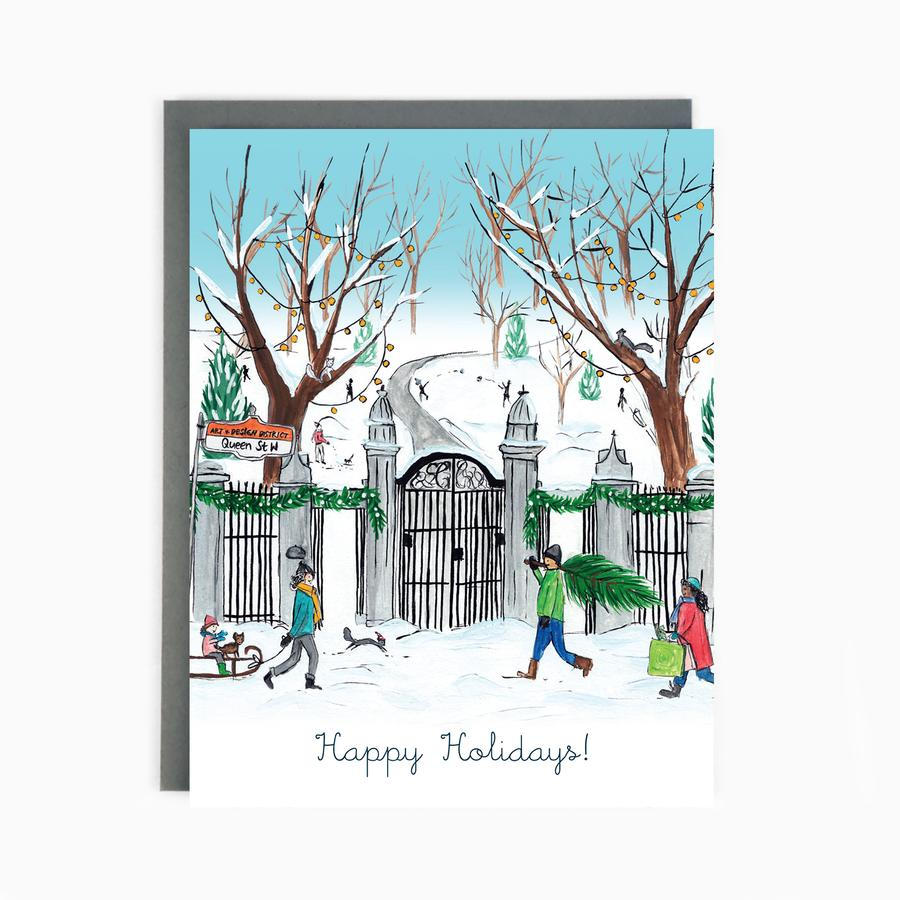 Trinity Bellwoods Toronto Holiday Greeting Card