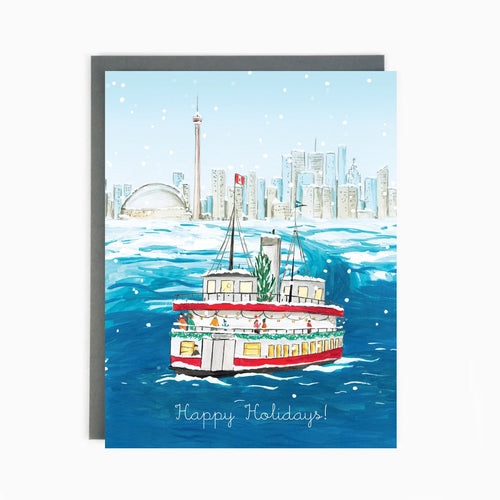 Toronto Island Ferry Holiday Greeting Card