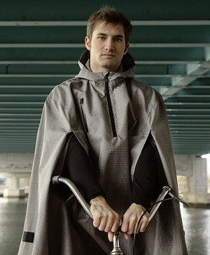 Cleverhood cycling rain cape: Electric Houndstooth